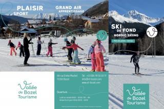 Plan ski de fond Bozel 2017