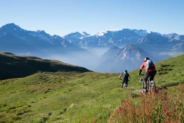 Mountain biking, e-bike, cycling