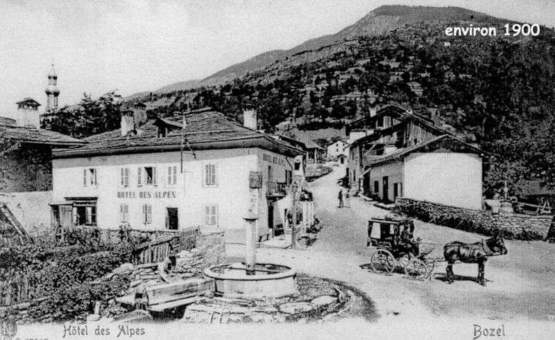 Le village de Bozel en 1900
