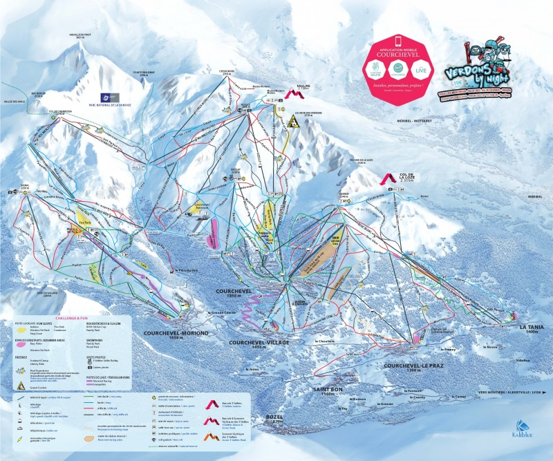 Selling ski passes Courchevel