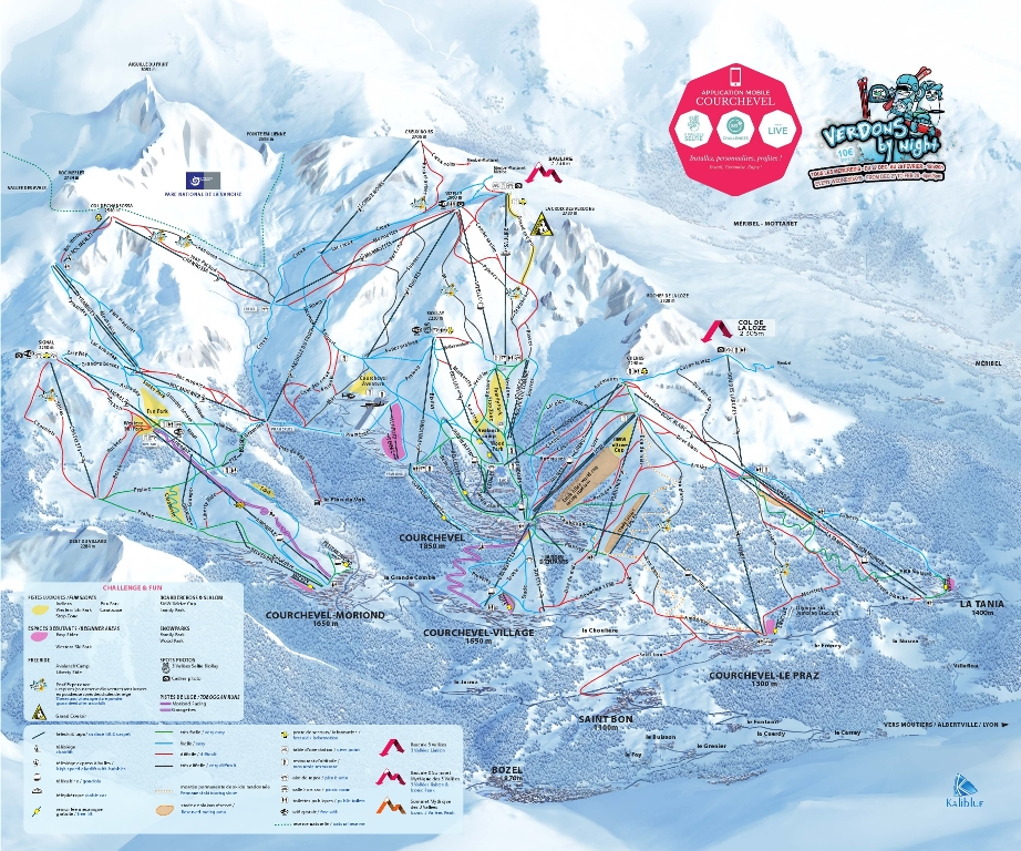 Plan des pistes courchevel-2017-2018